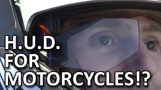 Motorcycle helmet of the future! - BMW booth - CES 2016