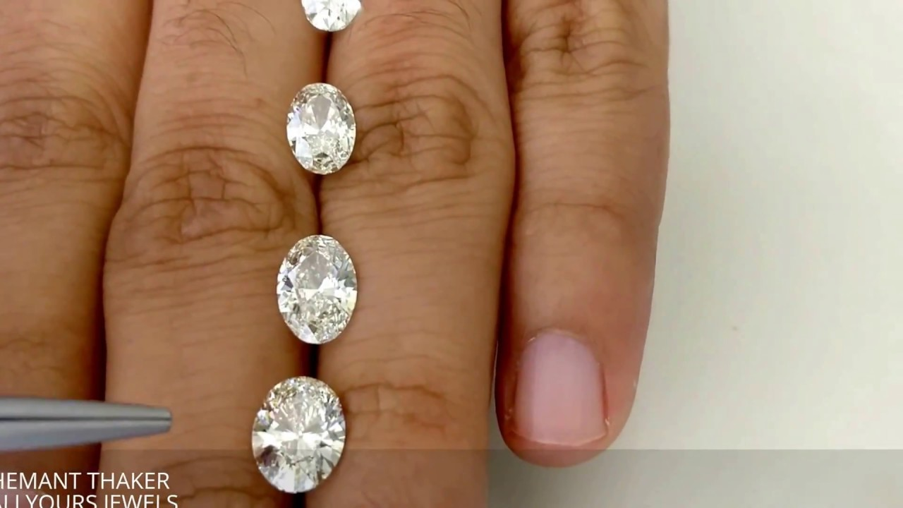 Oval shape diamond size compare on hand ct upto ct also youtube rh