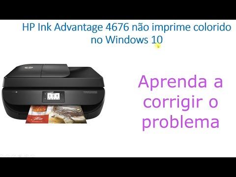 HP Ink Advantage 4676 não imprime colorido no Windows 10 - Aprenda a corrigir o problema