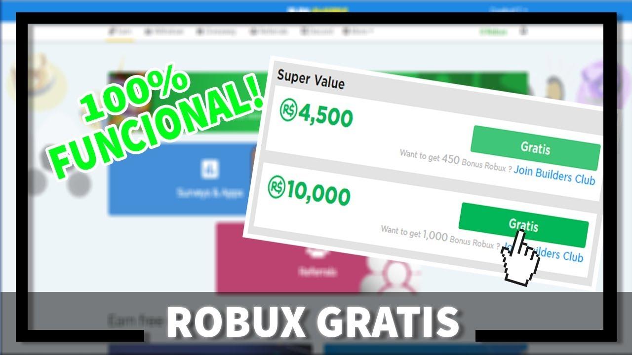 Roblox Gratis Online Como Conseguir Robux Gratis No Roblox Passo A Passo 100 Funcional Youtube