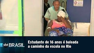 Download Video Estudante de 16 anos é baleada a caminho da escola no Rio | SBT Brasil (25/04/19) MP3 3GP MP4