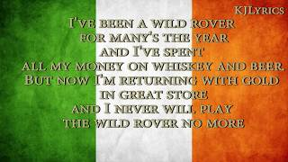 The Dubliners - Wild Rover(Lyric video)