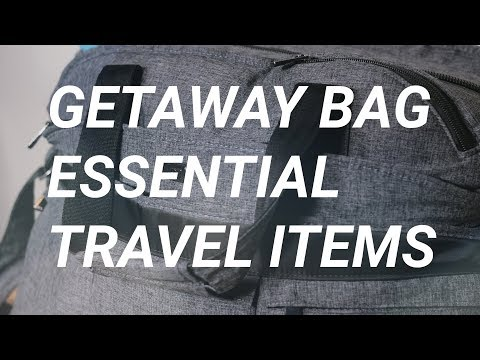 What's In My Getaway Bag: Carry-On Travel Essentials | Gunnarolla University