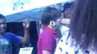 Warped Tour 08 @ Nassau Coliseum. The Crazy Kid & The Nail xD