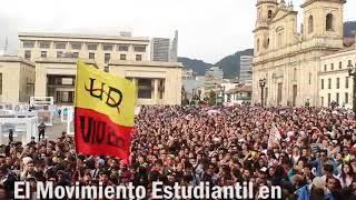 Marcha de estudiantes en Colombia