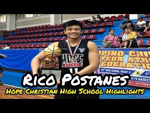 Rico Postanes Hope Christian High School Highlights