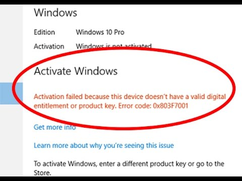 windows 10 is not activated fix