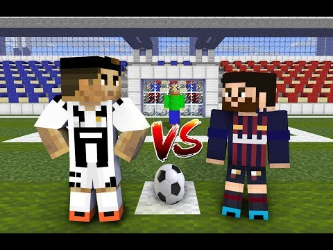 Monster School : Penalty Shoots (ft. Cristiano Ronaldo, Leo Messi, Baldi) - Minecraft Animation