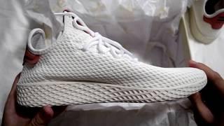 Whazz in The Box?!? - Adidas x Pharrell Williams Tennis Hu (White/Raw Pink) Unboxing
