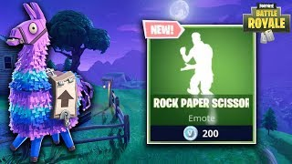ROCK PAPER SCISSORS WINNER GETS LLAMA! - Fortnite Battle Royale Epic, Funny, & Fail Moments
