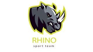How To Draw Rhino Logo Design I Animal Logo Design I Adobe Illustrator Tutorial