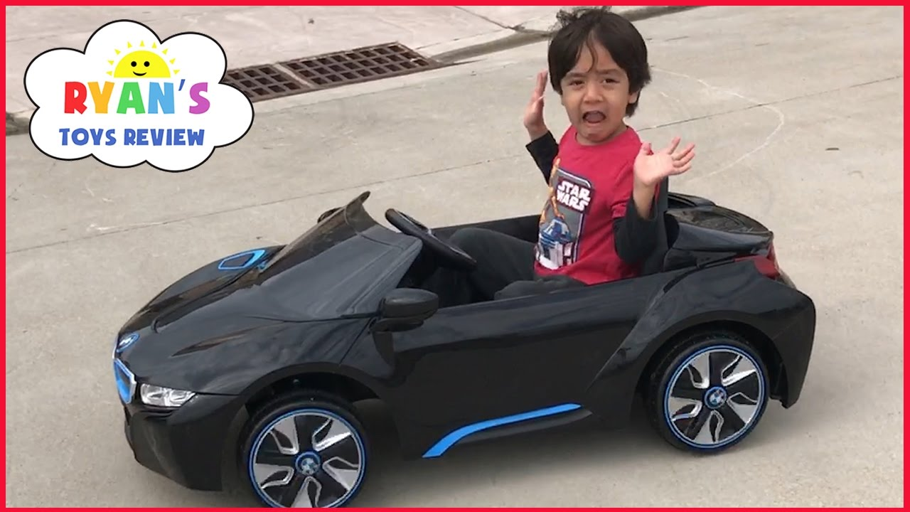 power wheels ride on cars for kids bmw battery powered super car 6v unboxing playtime fun test drive