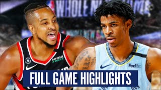 GRIZZLIES at TRAIL BLAZERS - FULL GAME HIGHLIGHTS   2019-20 NBA Playoffs