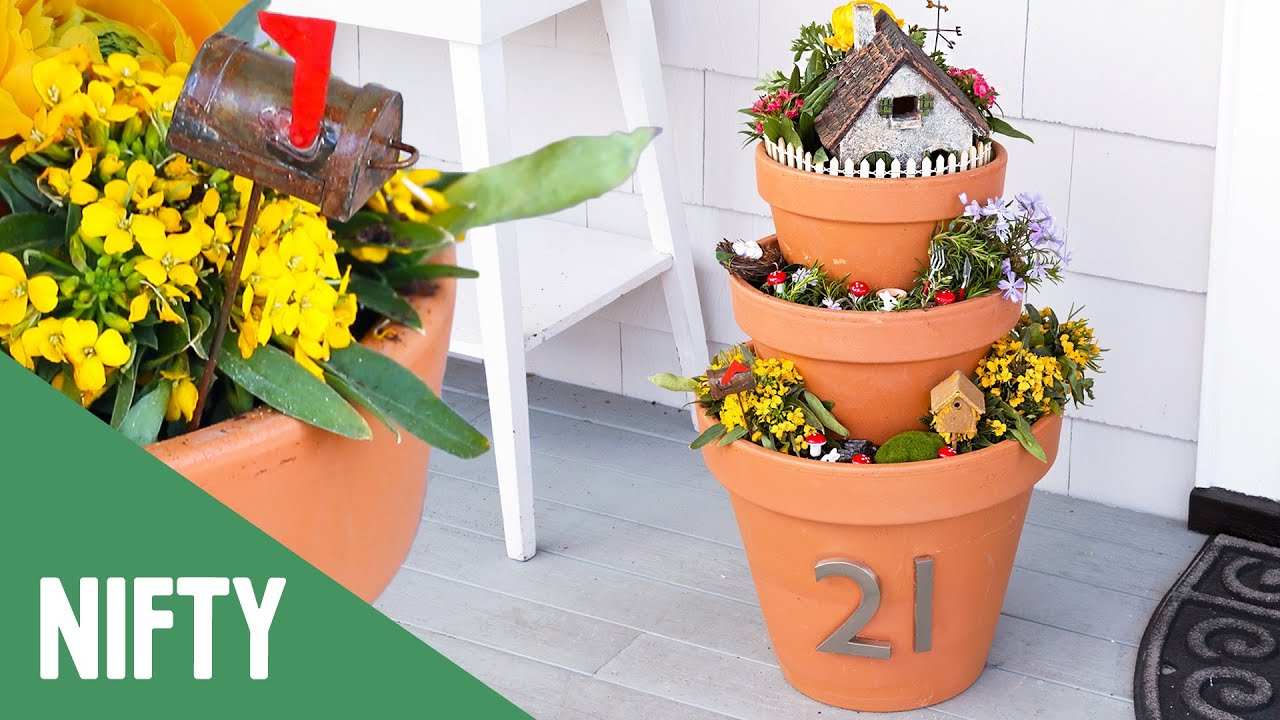 Fairy Garden House Number Planters Youtube