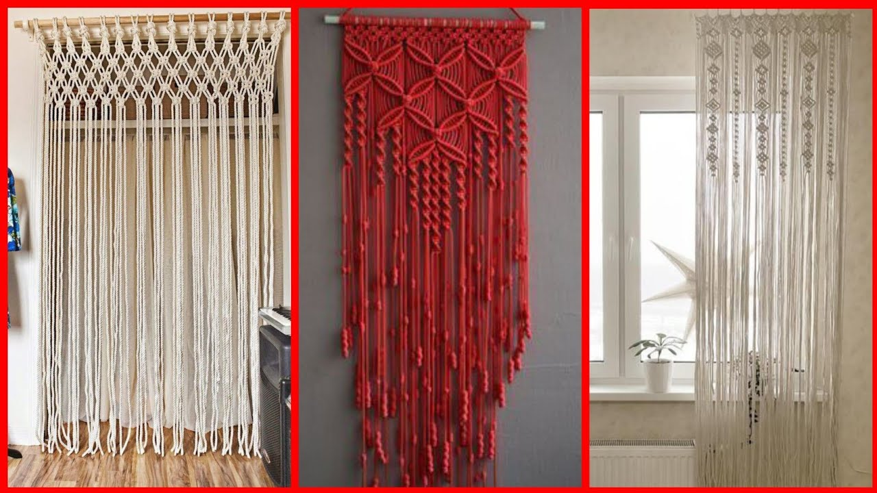 pretty diy macrame curtains ideas curtains for living room windows kitchen doors