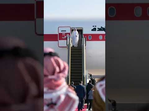 Sheikh Mohammad Bin Zayed|Private Jet|Arrival|MBZ|Uae royals