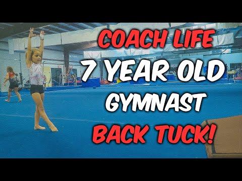 Coach Life: Tiny Gymnast Back Tuck On Floor| Rachel Marie