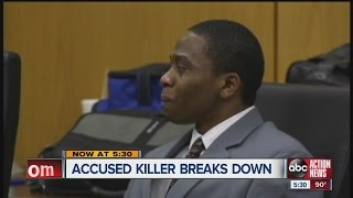 Kyle Williams breaks down in court