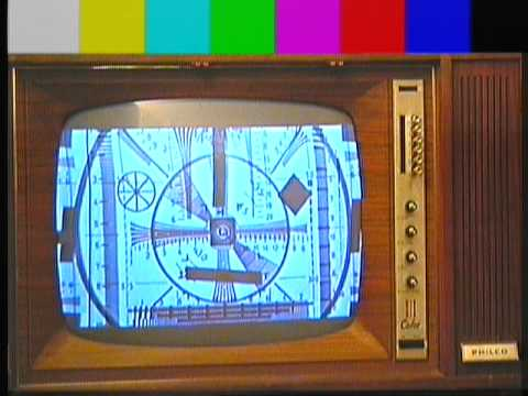 Test Card Pattern Monoscopi Mire In Old Tv Philco Predicta