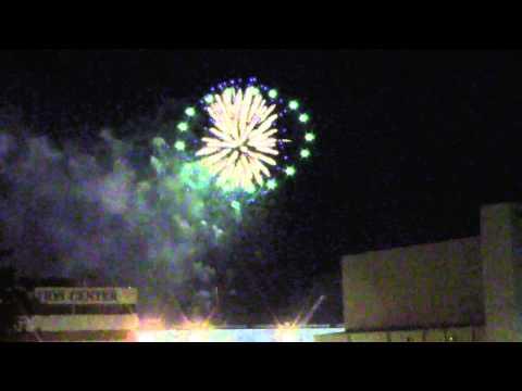 Newport News Shipbuilding prepares to christen submarine John Warner (Fireworks only)