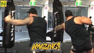 破壊力が凄い格闘家。とんでもない重量での筋トレが圧倒的!!