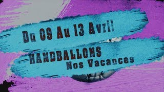 ALSH Handballons Nos Vacances du 09 au 13 AVRIL 2018