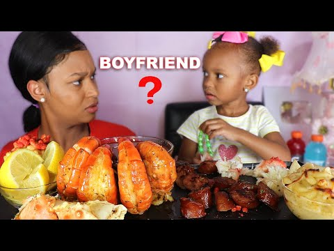 layla-has-a-boyfriend?!!!-seafood-mukbang-(-huge-prawns-+-king-crab-legs)-eating-show-|-queen-beast