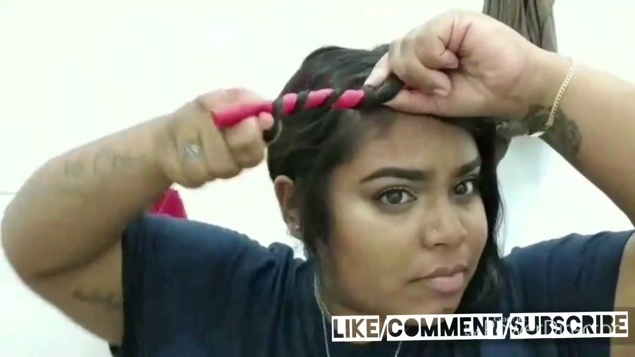 Heatless Curls Flexi Rods Indian Short Hair Youtube