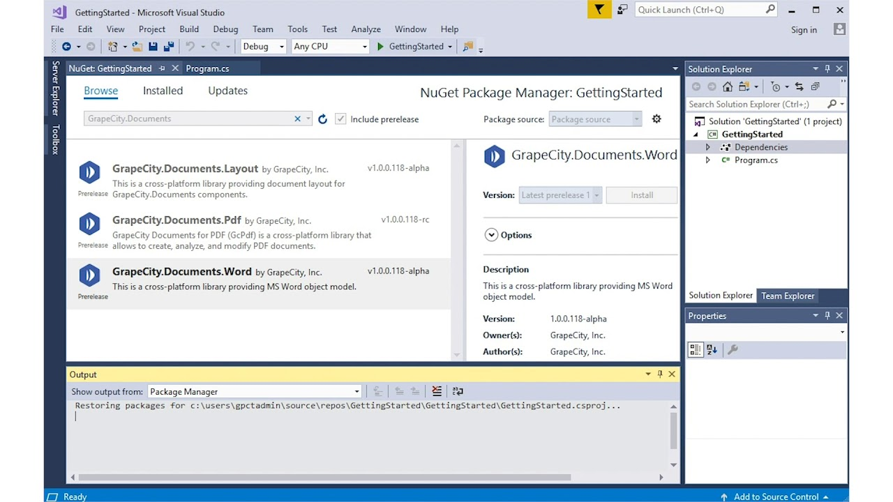 Getting started with Documents for Word API on Windows, Mac