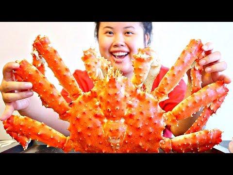 KING CRAB MUKBANG SEAFOOD BOIL 먹방 (EATING SHOW!)