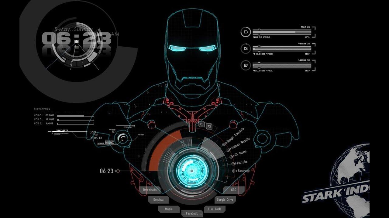 Jarvis Iphone Wallpaper Iron Man Desktop Jarvis Voice Windows 鋼鐵人桌布 By