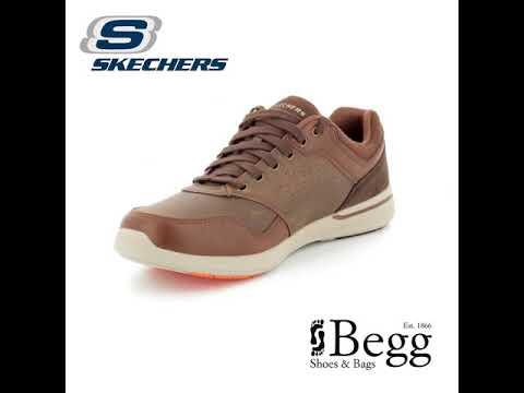 e30b05324076 Skechers Elent Velago 65406 Brown casual shoes - YouTube