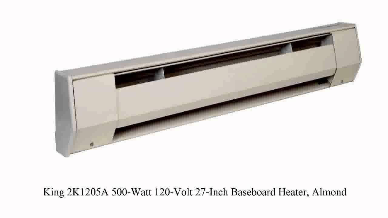 King KP1210 1000 Watt 120 Volt 4 Foot Portable Baseboard Heater Bright Whit