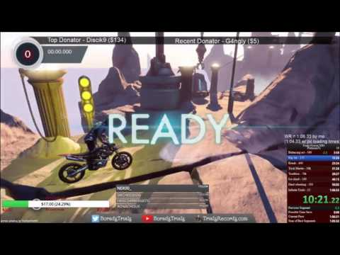 Trials Fusion All Platinum Medals Speedrun World Record in 1:05.27
