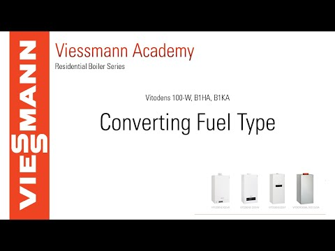 How to Convert Fuel Type on a Vitodens 100-W, B1HA & B1KA Boiler