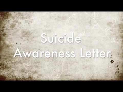 Dear Friend... (Suicide Prevention Letter)