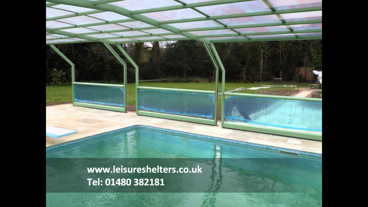 MaperGlas 5 angle CTU swimming pool enclosure from Leisure Shelters UK Ltd  - Tel: 01480 382181