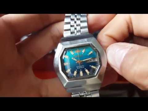 2f73416c3b76 Reloj Orient Automático Antiguo Octagonal Raro 25 Jewels Mov. 26960