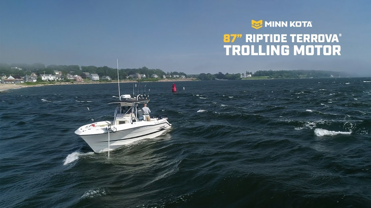 "New 87"" Riptide Terrova Saltwater Trolling Motor | Minn Kota - YouTube"