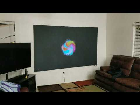 How to build a black projector screen