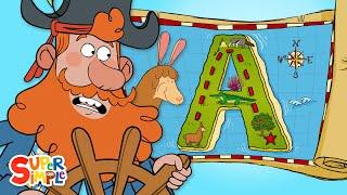 "Alphabet Adventure on ""A"" Island | Captain Seasalt And The ABC Pirates | Educational Cartoon"