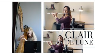 Clair de Lune for Flute and Harp