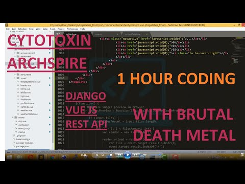 CODING WITH BRUTAL DEATH METAL (1 HOUR) thumbnail