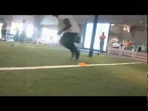 NFL Agility Training  Dashon Goldson Resistance Box Drill