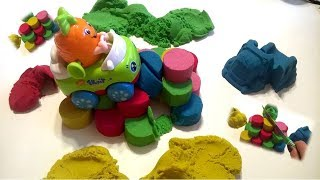 Учим цвета на русском языке с Кинетическим песком Развивающее видео для детей