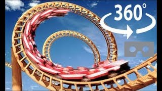 roller coaster 360 virtual reality the x2 at six flags
