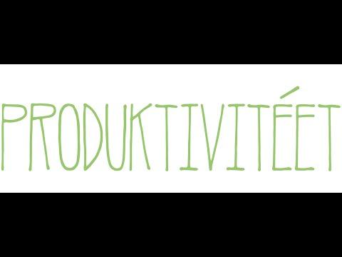 Produktivitéet #001: Det som kommer in måste en gång komma ut
