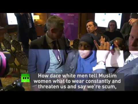 """""""UKIP are nasty racist party"""" Protesters gatecrash #GE2017 launch"""