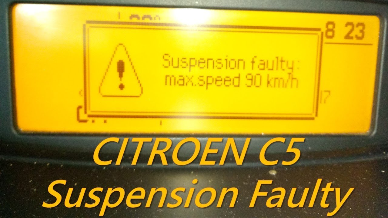 Citroen C5 - Hydractive Suspension Fault, Hydraulic Motor / Pump Problem, on citroen c7, citroen cars, citroen c4, c5 common problems, land rover discovery problems, citroen sm problems, citroen picasso c3 problems, citroen xsara problems, hyundai santa fe problems,