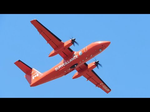 Department Of Transport Canada Bombardier Dash 8 Q100 Landing & Takeoff From YYJ